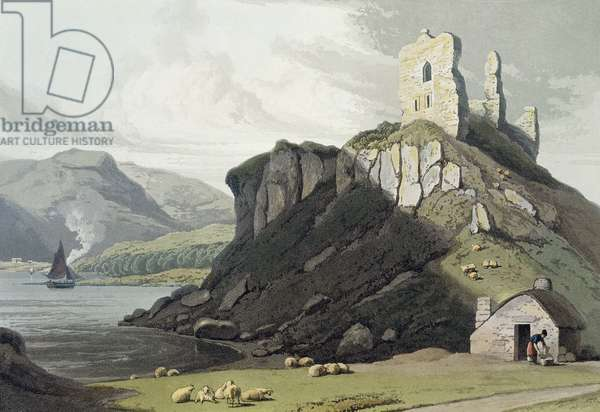 Arros Castle, Isle of Mull, from 'A Voyage Around Great Britain Undertaken Between the Years 1814 and 1825' published in London, 1818 (hand coloured engraving)