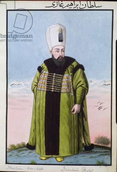Ibrahim (1615-48) Sultan 1640-48, from 'A Series of Portraits of the Emperors of Turkey', 1808 (w/c)