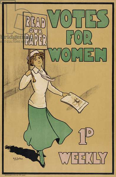 Votes for Women, from The Suffragette, pub.1912 (colour litho)