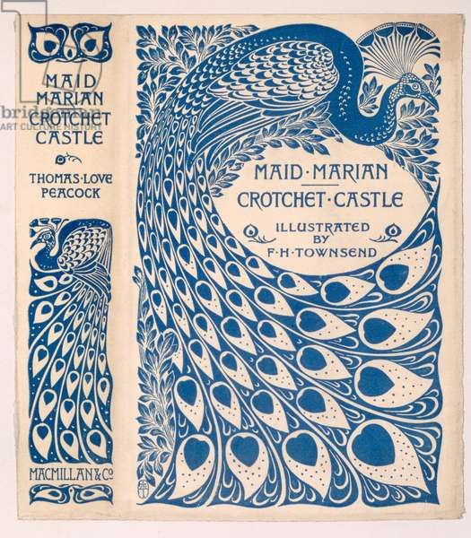 Book Jacket for 'Maid Marian' and 'Crotchet Castle' by Thomas Love Peacock, published 1900 (colour litho)