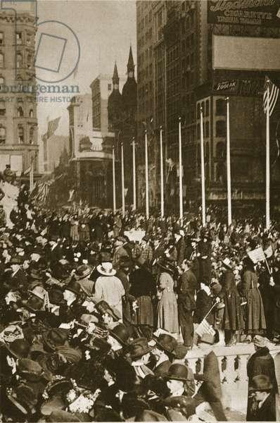 When Peace Came, 1918 (sepia photo)