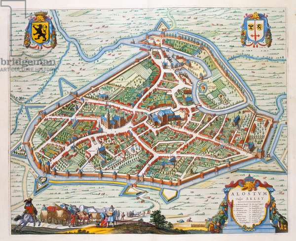 Aalst, 1649 (hand-coloured engraving)