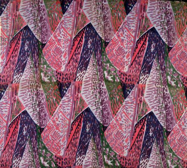 'Margery' fabric design, 1913 (printed linen)
