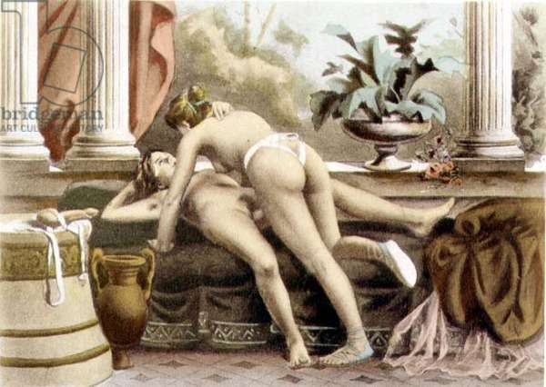 """Ancient Times, plate XIV from """"De Figuris Veneris"""" by F.K Forberg, engraved by the artist, 1900 (litho)"""