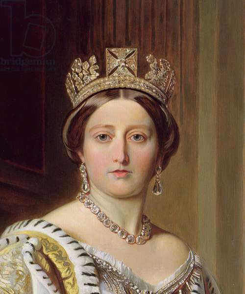Portrait of Queen Victoria, 1859 (oil on canvas) (detail of 192754)