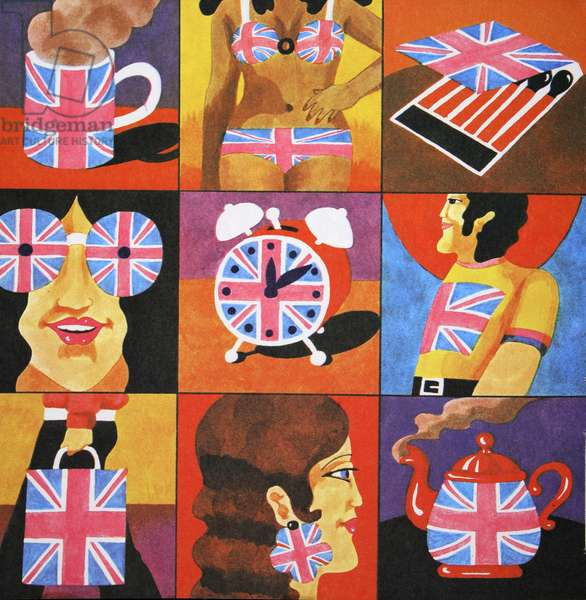 Union Jack Merchandise, from 'Carnaby Street' by Tom Salter, 1970 (colour litho)