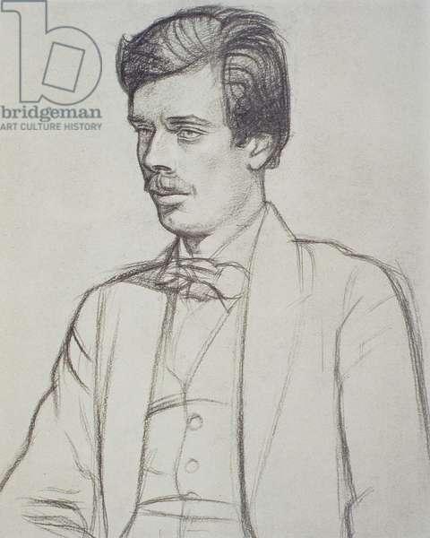 Portrait of Aldous Huxley (1894-1963) (litho)