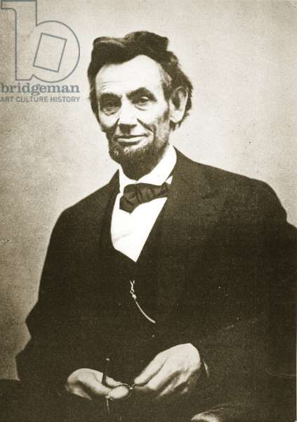Abraham Lincoln, 1865 (b/w photo)