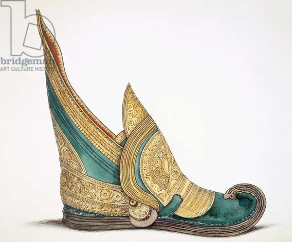 Illustration from a portfolio of watercolours of shoes (w/c on paper)