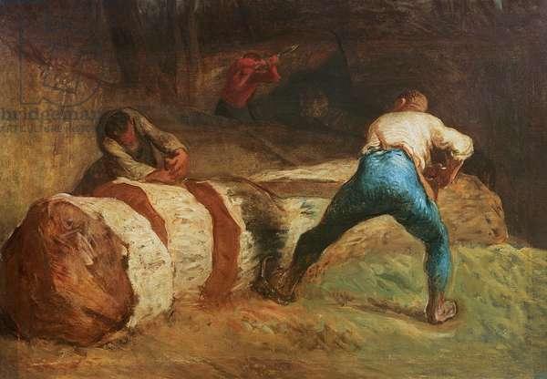 The Wood Sawyers, 1848 (oil on canvas)