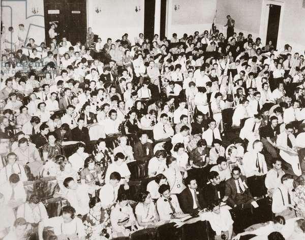World Youth Congress, Vassar College, 16-23 August 1938 (b/w photo)