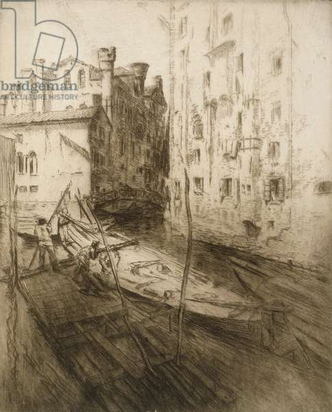 The Jewish Ghetto, Venice, from 'Impressions d'Italie', 1906 (etching)