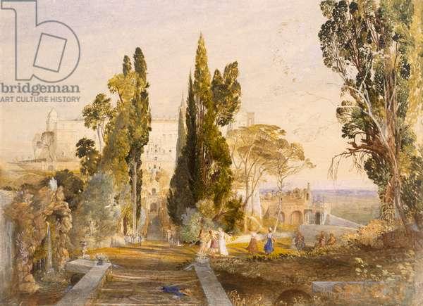 The Villa d'Este, Tivoli, 1837 (w/c on paper)
