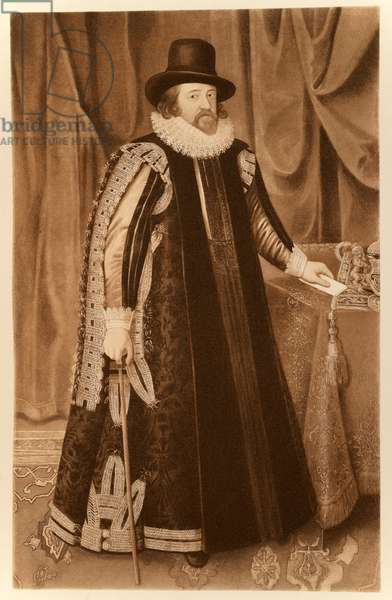 Francis Bacon, Viscount St Albans, from 'James I and VI', printed by Manzi Joyant & Co. Paris, 1904 (collotype)