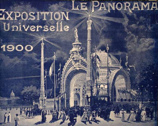 'Le Panorama', Exposition Universelle, Paris, 1900 (b/w photo)