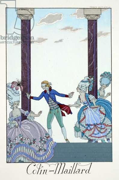 Blind Man's Bluff, from 'Falbalas & Fanfreluches, Almanach des Modes Présentes, Passées et Futures', 1925 (colour litho)