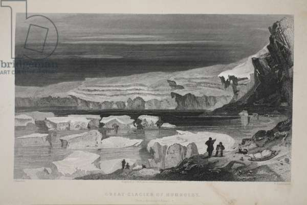 The Great Glacier of Humboldt, illustration from 'The second Grinnell Expedition in Search of Sir John Franklin', 1856 (engraving)