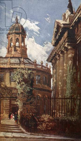 The Sheldonian Theatre and Old Clarendon Buildings, 1903 (colour litho)