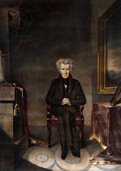Andrew Jackson, pub. c.1835 (colour litho)
