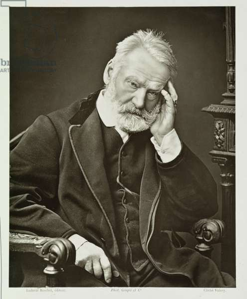Victor Hugo (1802-85), from 'Galerie Contemporaine', c.1874-78 (b/w photo)