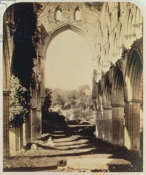 Rievaulx Abbey, North Yorkshire, 1854 (sepia photo)