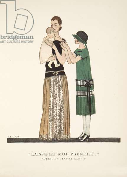 """Laisse-le Moi Prendre .."", from a Collection of Fashion Plates, 1922 (pochoir print)"