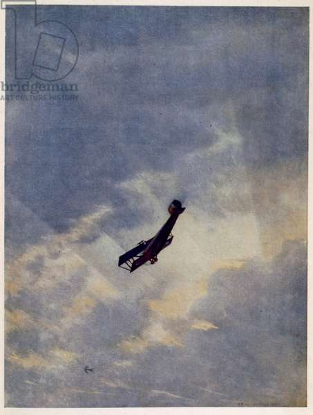 Swooping Down on a Hostile Plane, from British Artists at the Front, Continuation of The Western Front, 1918 (colour litho)