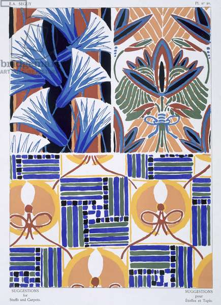 Design from 'Suggestions for Fabrics and Carpet', published c.1925 (colour litho)