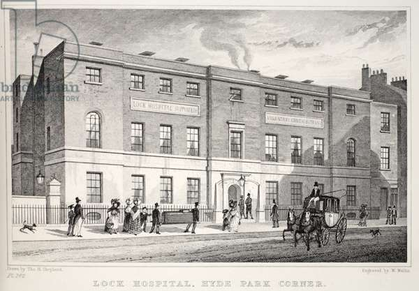 Lock Hospital, Hyde Park Corner, from 'London and it's Environs in the Nineteenth Century' pub. Jones & Co., 1827-1829 (engraving)