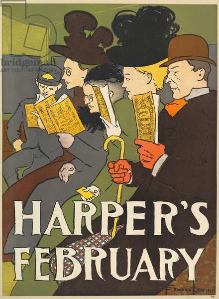 Harpers New Monthly Magazine, February 1896 (colour litho)