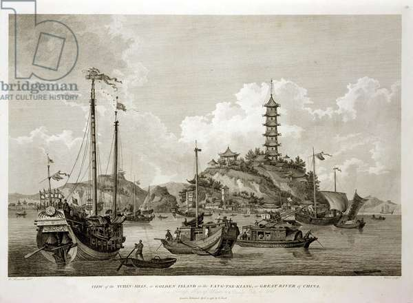 View of the Tchin Shan, or Golden Island, in the Yang-tse Kiang, or Great River of China, engraved by Wilson, pub. by G. Nicol, 1796 (engraving)