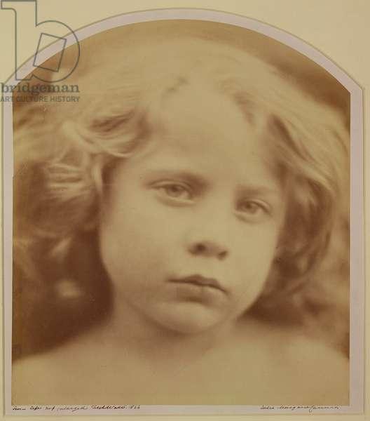 Portrait of a Child, 1866 (b/w photo)