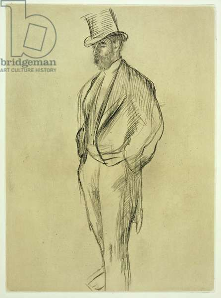 Portrait of Ludovic Halevy (1834-1908), from 'La Famille Cardinal' by Ludovic Halevy, c.1880s, published 1938 (litho)