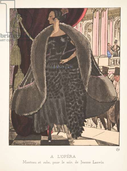 A L'Opera, from a Collection of Fashion Plates, 1920 (pochoir print)