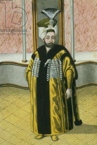 Mustapha IV (1779-1808) Sultan 1807-8, from 'A Series of Portraits of the Emperors of Turkey', 1808 (w/c)