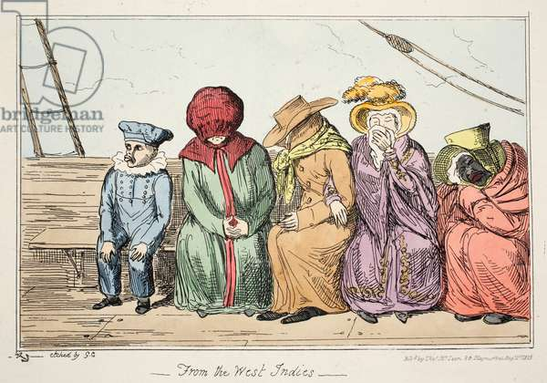 From the West Indies, pub. 1835 (hand coloured etching)