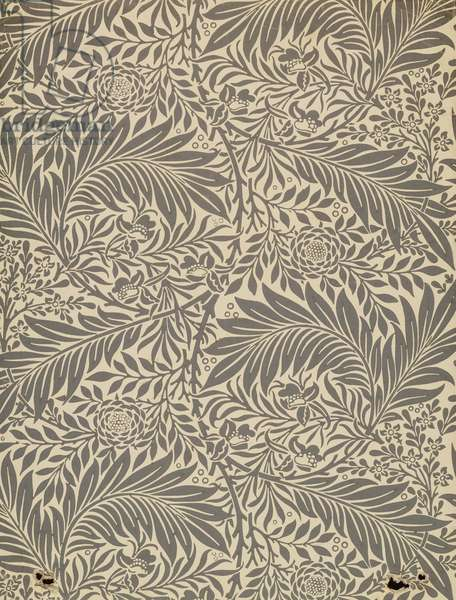Larkspur, wallpaper design, 1872