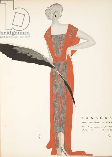 Tanagra, from a Collection of Fashion Plates, 1921 (pochoir print)