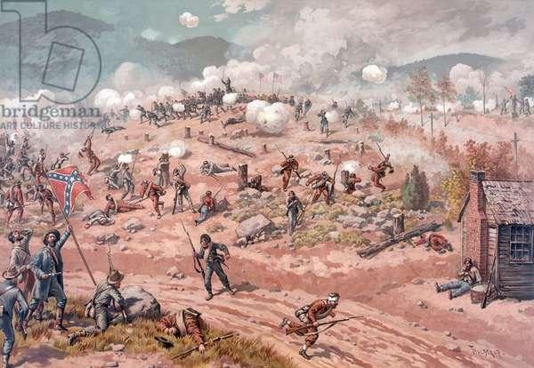 Battle of Allatoona Pass, pub. L Prang & Co., 1886 (colour litho)
