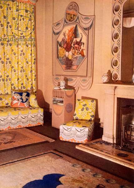 Living Room from 'Colour Schemes for the Modern Home', published London 1933 (colour litho)
