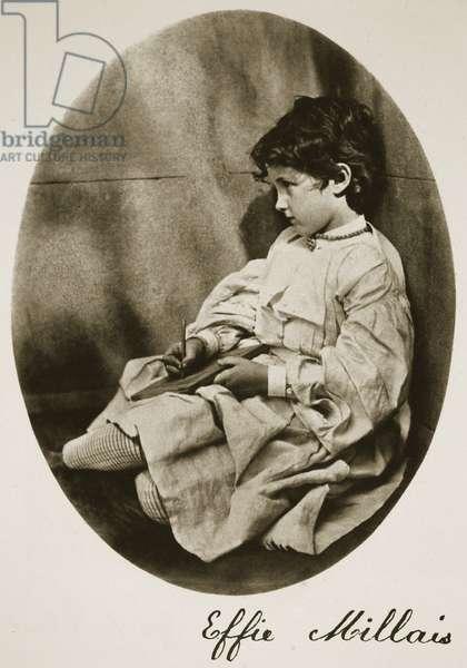 Effie Millais, 20th July 1865 (sepia photo)