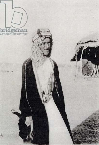 T. E. Lawrence in Arab Dress (b/w photo)
