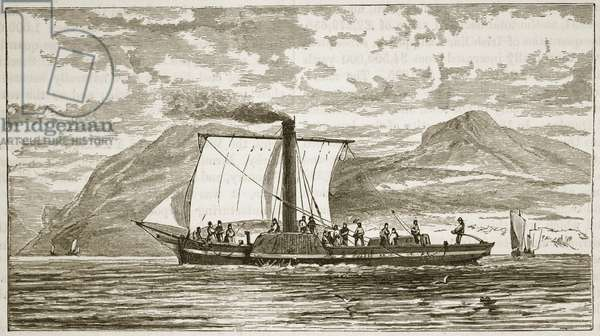 Bell's Comet, illustration from 'Cassell's Illustrated History of England' (engraving) (sepia photo)