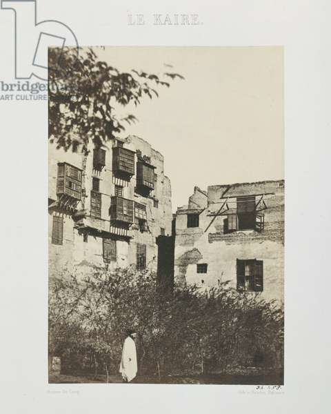 House and garden in the French Quarter, Egypt, 1850 (salt paper print from wax paper negative)