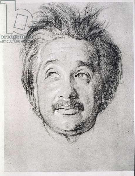 Portrait of Albert Einstein (1879-1955) (litho)