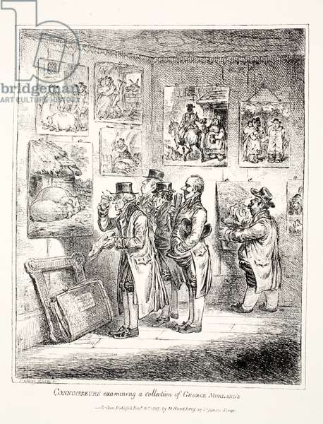 Connoisseurs Examining a Collection of George Morland's, 1807 (engraving)