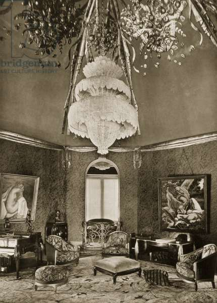 Grand Salon/Drawing Room, designed by Sue et Mare, from 'Ensembles Mobiliers II', 1925 (b/w photo)