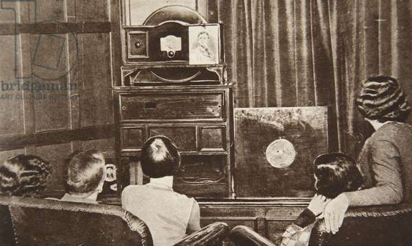 Television, developed by John L. Baird, was successfully broadcast (both sight and sound) in 1930 (b/w photo)