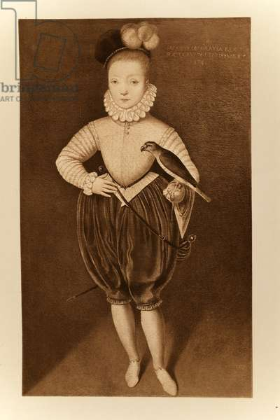 King James I of England and VI of Scotland as a boy, from 'James I and VI', printed by Manzi Joyant & Co. Paris, 1904 (collotype)