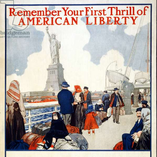 Fundraising poster for the 2nd Liberty Loan of 1917, pub. 1917 (colour litho)
